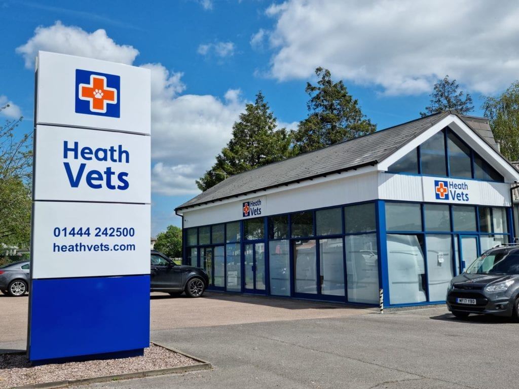 Our brand new signage and the entrance to the practice! | Heath Vets