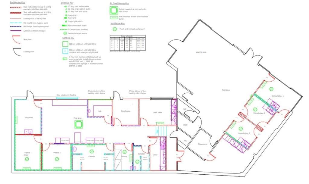 Floor Plan of our new practice | Heath Vets